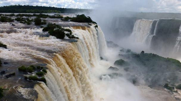 The mighty Iguazu Falls