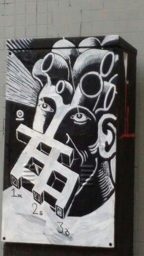 ● Brazilian graffiti artist • TRECO in São Paulo city