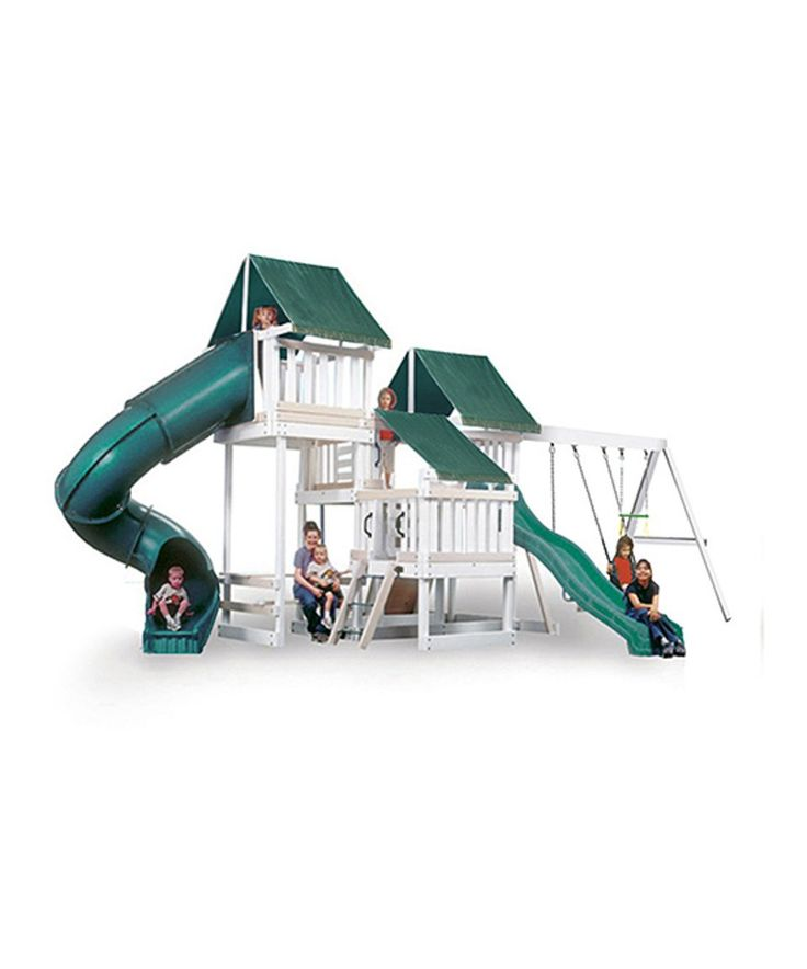 Take a look at this White & Sand Congo Monkey Play System Four Play Set today!