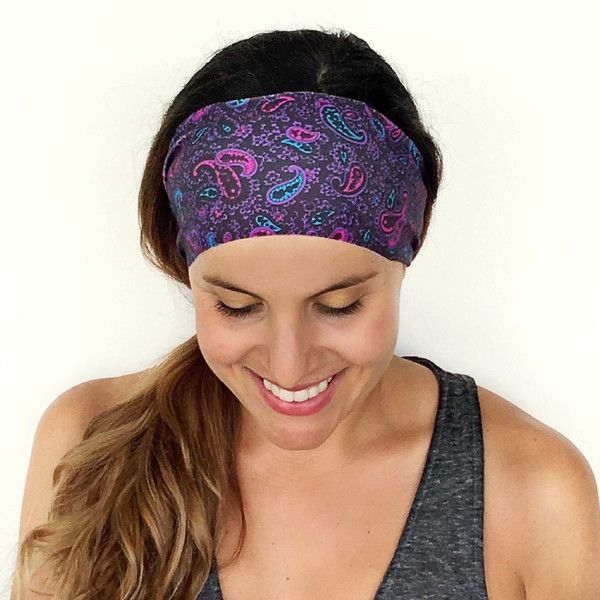 Yoga Headband Workout Headband Fitness Headband Running Headband Into... (9.77 NZD) ❤ liked on Polyvore featuring accessories, hair accessories, grey, headbands & turbans, sport headbands, sports headbands, boho headband, turban headband and boho hair accessories