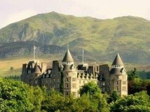 Atholl Palace Hotel, Scotland.  A majestic castle hotel overlooking the highlands.  (escapenormal.com)