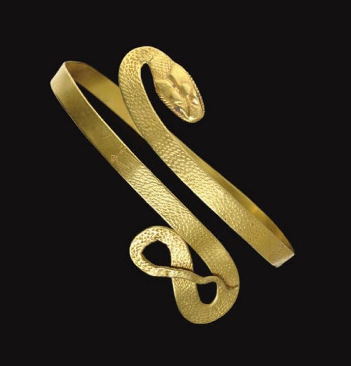 A ROMAN GOLD SNAKE BRACELET   CIRCA 1ST CENTURY B.C.-1ST CENTURY A.D.