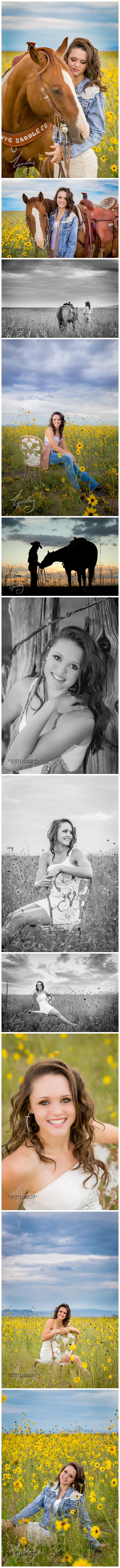 Girl and horse Senior Portrait Photography in the sunflowers! Posing and outfit ideas and inspiration. http://www.lyndseygarberphotography.com/kadie-new-mexico-senior-photography/