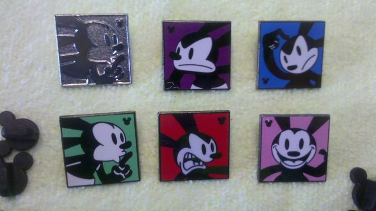 pin broche disney DLR - 2014 Mickey caché Série - Oswald le lapin chanceux expressions Heureux