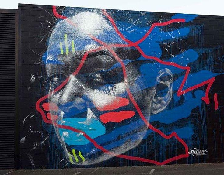 """@askewone for Street Prints @stprints mural festival in Mt Maunganui, NZ. #askewone #contemporaryartcurator #streetartofficial #streetartphotography…"""