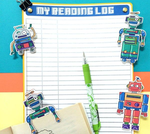 bo cardboard robot reading - photo #39