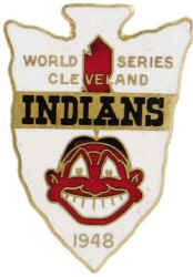 Cleveland Indians 1948 World Series press pin