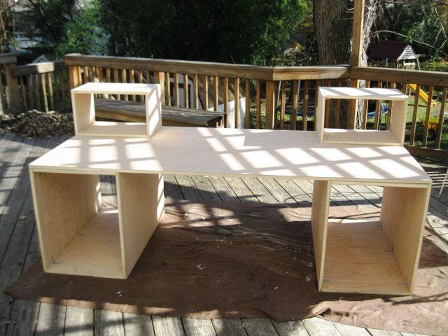 my new home recording studio desk project harmony central - Home Studio Desk Design