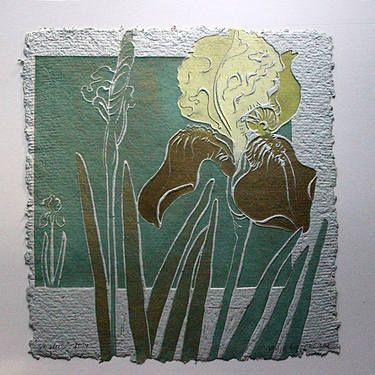 "Saatchi Art Artist Vilija Lioranciene; Printmaking, ""Iris"" #art"