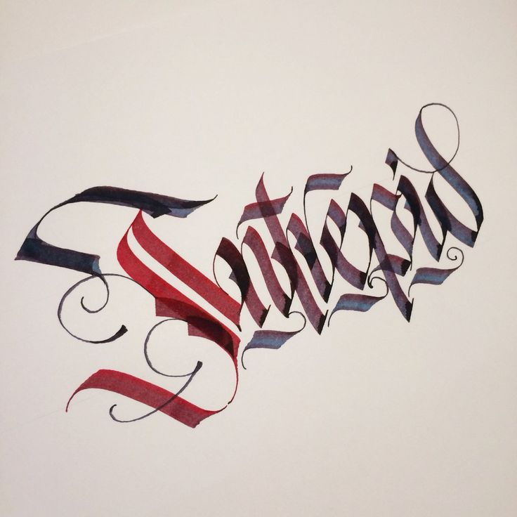 Best gothic calligraphy images on pinterest hand
