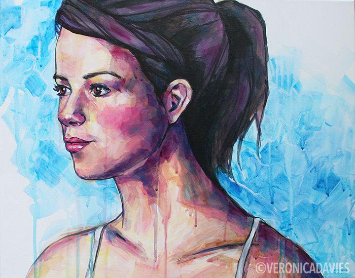 "Ethereal Blue, Acrylic, 16"" x 20"""