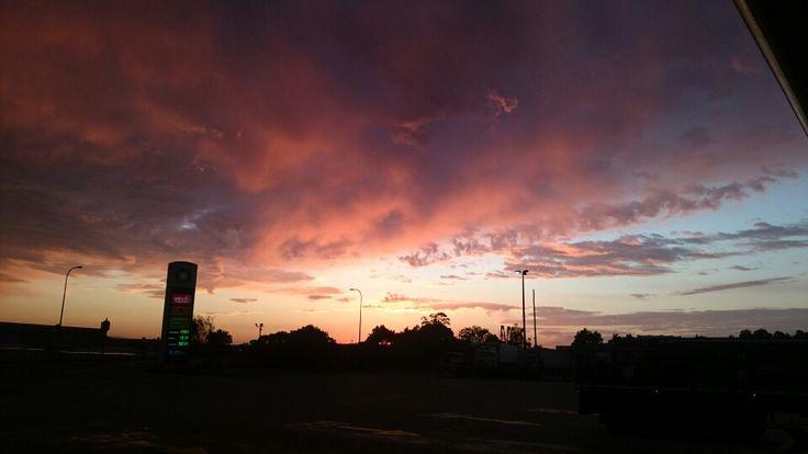 Sun rise Archerfield. Queensland.