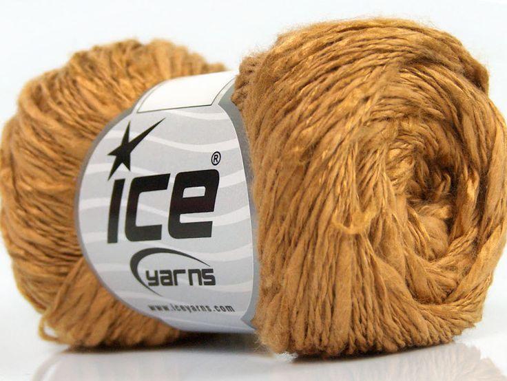 Limited Edition Spring-Summer Yarns Viskon Yazlık  Pamuk Flamme Natural Yarn Fine Weight Açık Kahve  İçerik 60% Pamuk 40% Viskon Light Brown Brand ICE fnt2-41423