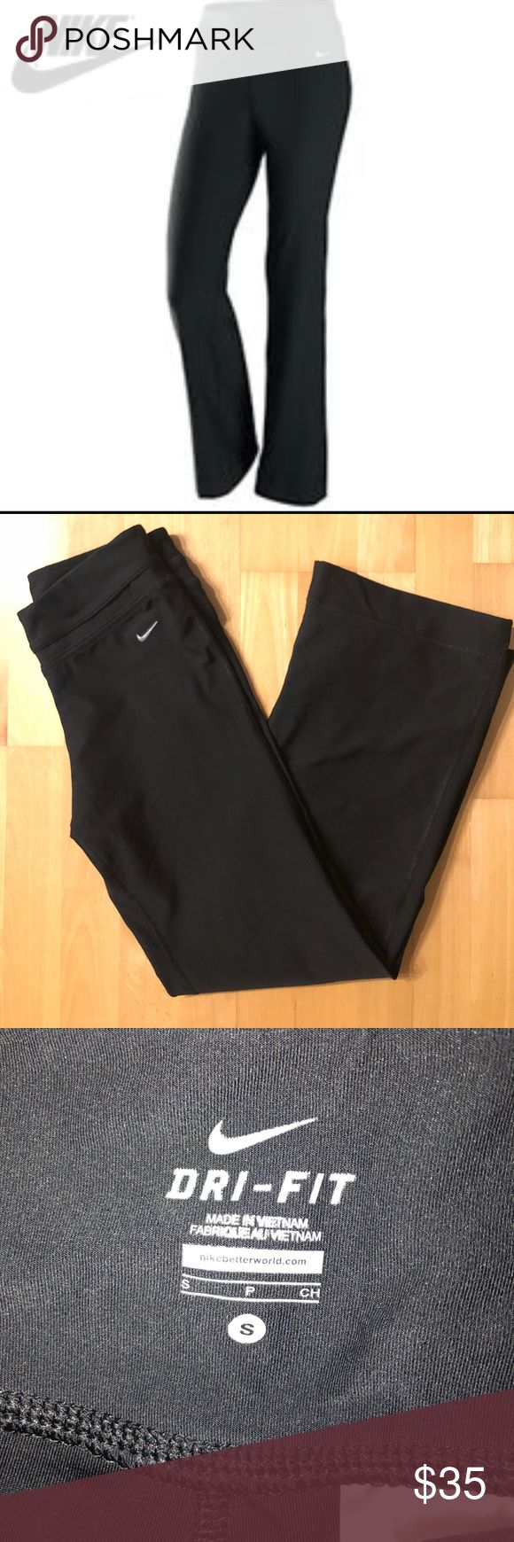 """Nike Be Strong Womens Training Pant dri-Fit Women's full length training pants in black. 14"""" waist, 32"""" inseam. Excellent preowned condition. Look like new Nike Pants"""