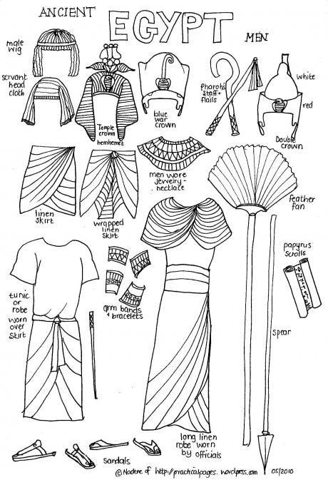 Papel de los hombres de la Historia Antigua de Egipto. Indumentaria egipcios                                                                                                                                                                                 Más