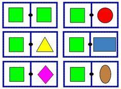 Educación Preescolar: Dominó de figuras geométricas 2 http://educpreescolar.blogspot.mx/2015/10/domino-de-figuras-geometricas-2.html