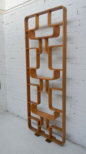 THONET ROOM DIVIDER - 1960's ( mid century modern wooden decore element )