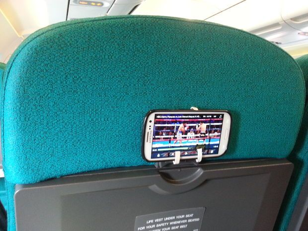 Phone mount from airsick bags