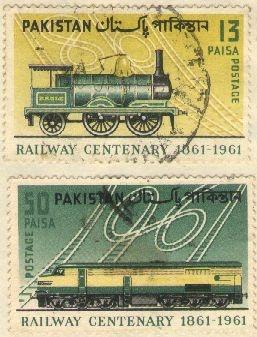 Railway Centenary 1861-1961 #pakistan postage stamp