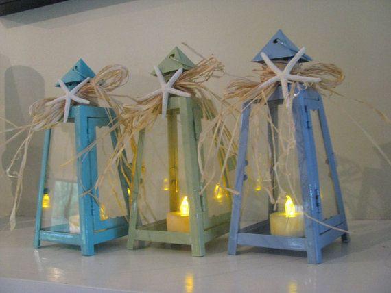 Starfish Table Lantern in Hydrangea Blue by BaublesBangles