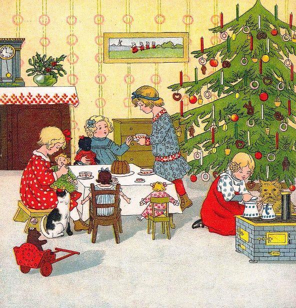 6511 best Vintage Christmas Art images on Pinterest   Vintage ...