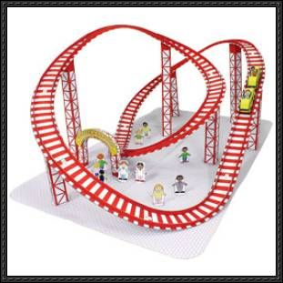 26 best roller coaster science project images on pinterest for Paper roller coaster loop template