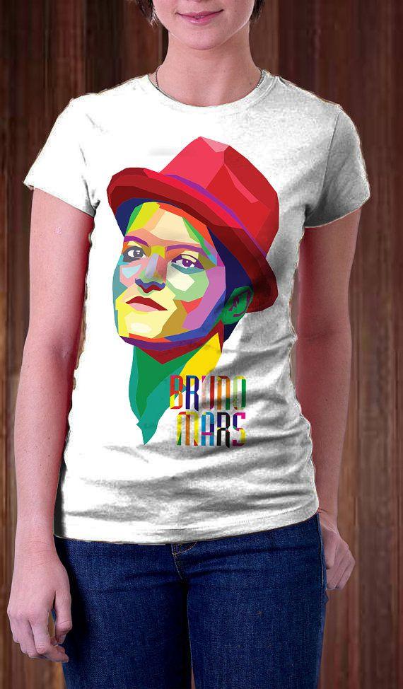Bruno Mars WPAP Women T Shirt  Singer T Shirt  WPAP by Ngetrick, $17.98