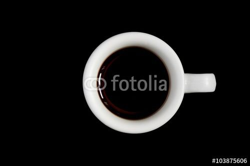 Coffee, aromatic drink on a black background