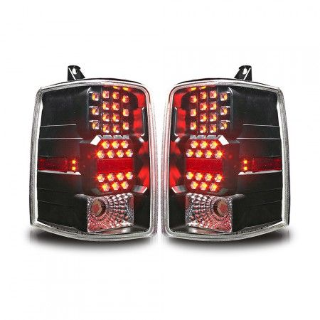 WinJet WJ20-0038-04 | 1998 Jeep Grand Cherokee Black LED Taillights for SUV/Truck/Crossover
