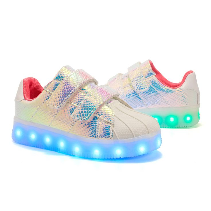 Eur25-37 //kids shoes children with led light up sneakers for girls&boys USB illuminated krasovki glowing luminous sneakers dlbk #Affiliate