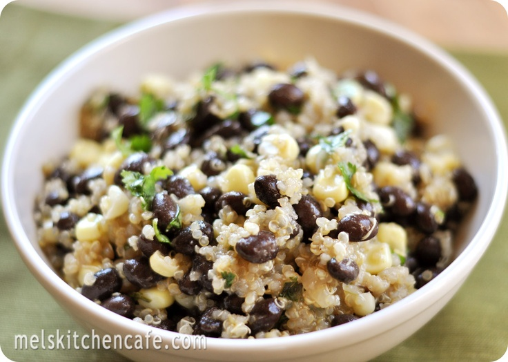 quinoa, corn, and black bean salad