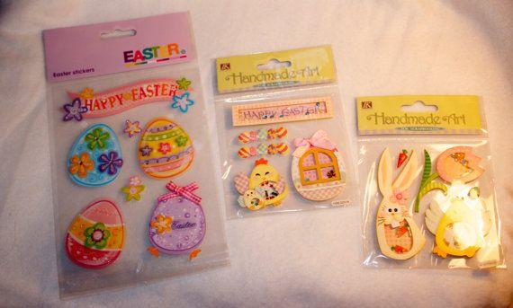 Easter stickers - Easter embellishments - Rabbit embellishments