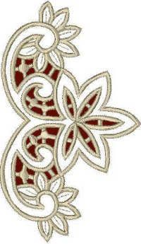 Advanced Embroidery Designs - Irises Cutwork Lace.