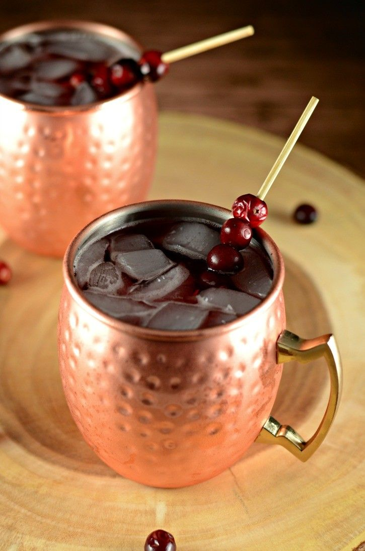 A delicious Cranberry Apple Moscow Mule is a perfect cocktail to enjoy this fall and winter.