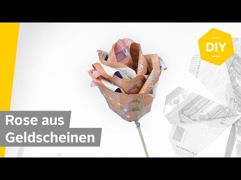 How to Make Money Origami Rose Flower / DIY Rose F…