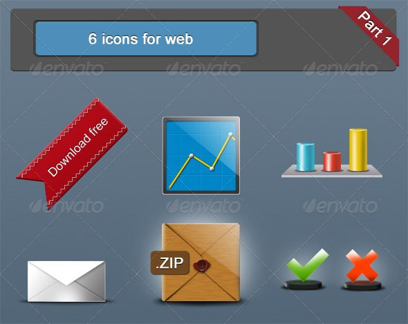 6 icons for web
