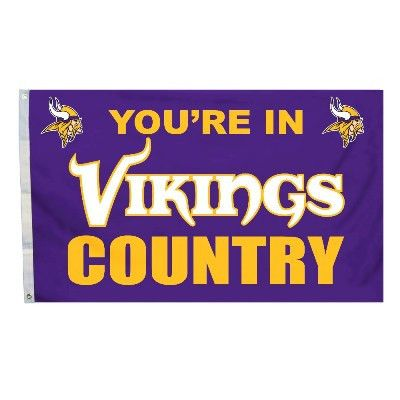 The Minnesota Viking NFL Your In Vikings Country Flag - 3'x5'