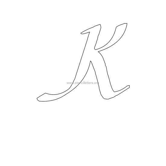 108 best letter templates images on pinterest letter stencils uppercase calligraphy wall stencil letter k spiritdancerdesigns Images