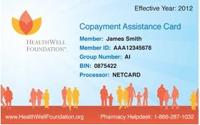 HealthWell Foundation Pharmacy Card Front
