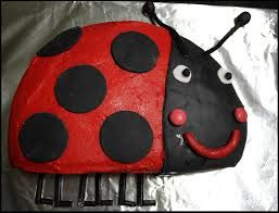 Ladybird cake, Gaston from Ben & Holly