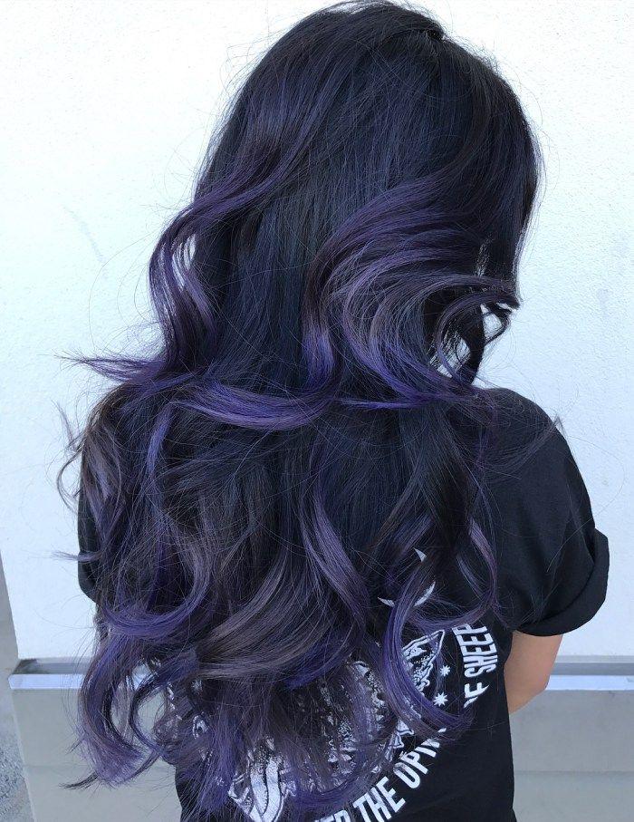 The 25 best balayage black hair ideas on pinterest black 20 purple balayage ideas from subtle to vibrant purple blue balayage for black hair urmus Gallery