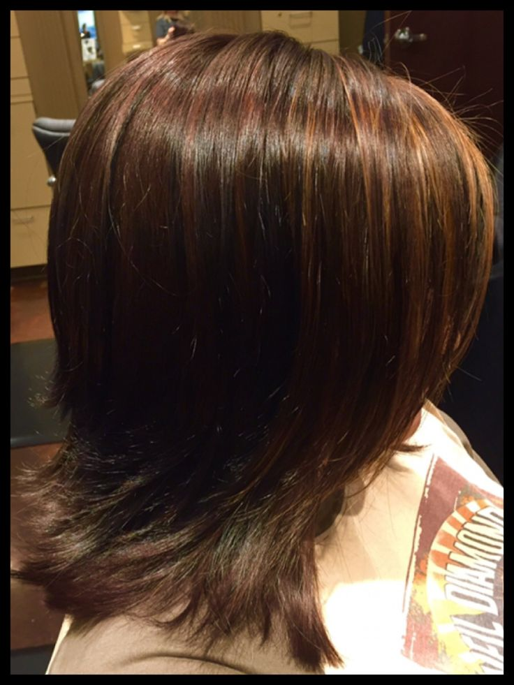 Rich Mahogany Brown with subtle highlights