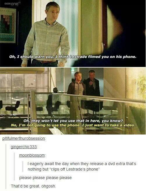 John & Lestrade. Spread this enough and maybe it'll become a thing.