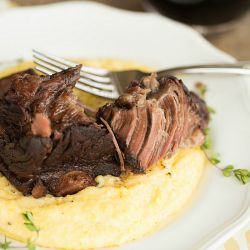 Braised Short Ribs with Cheesy Grits (Slow Cooker)   Brown Eyed Baker