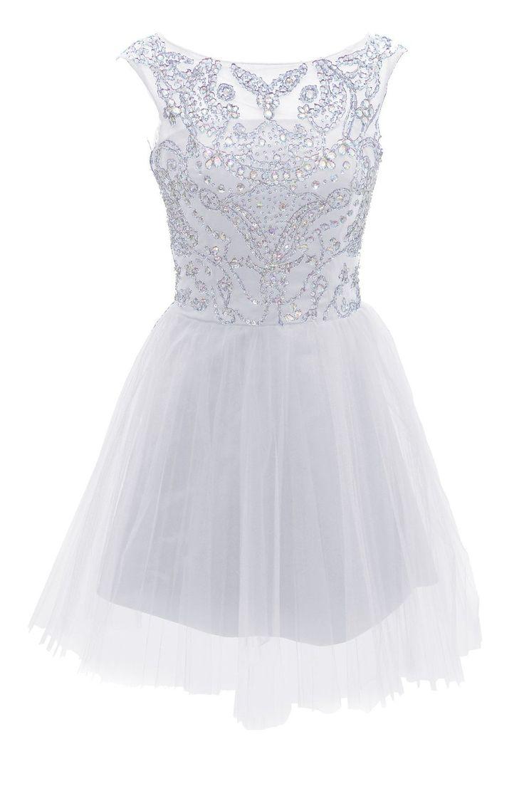 Short Blue Prom Evening Prom Dresses: Clothing