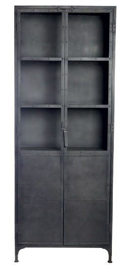 Industrial cabinet: this would look great with brightly colored accents