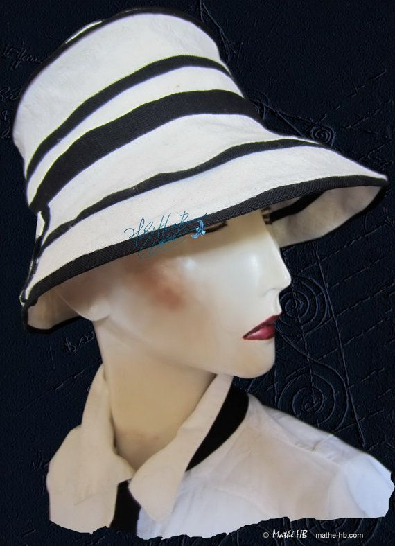 summer hat to order sea wind sand white and par MatheHBcouture
