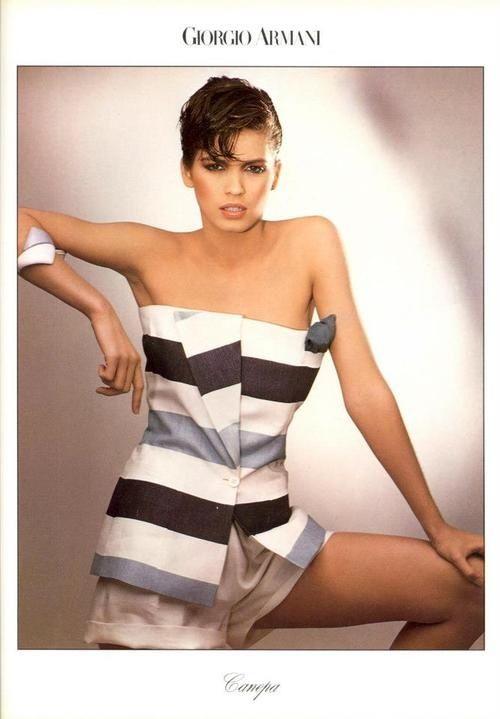 Gia Carangi models early 80s Armani