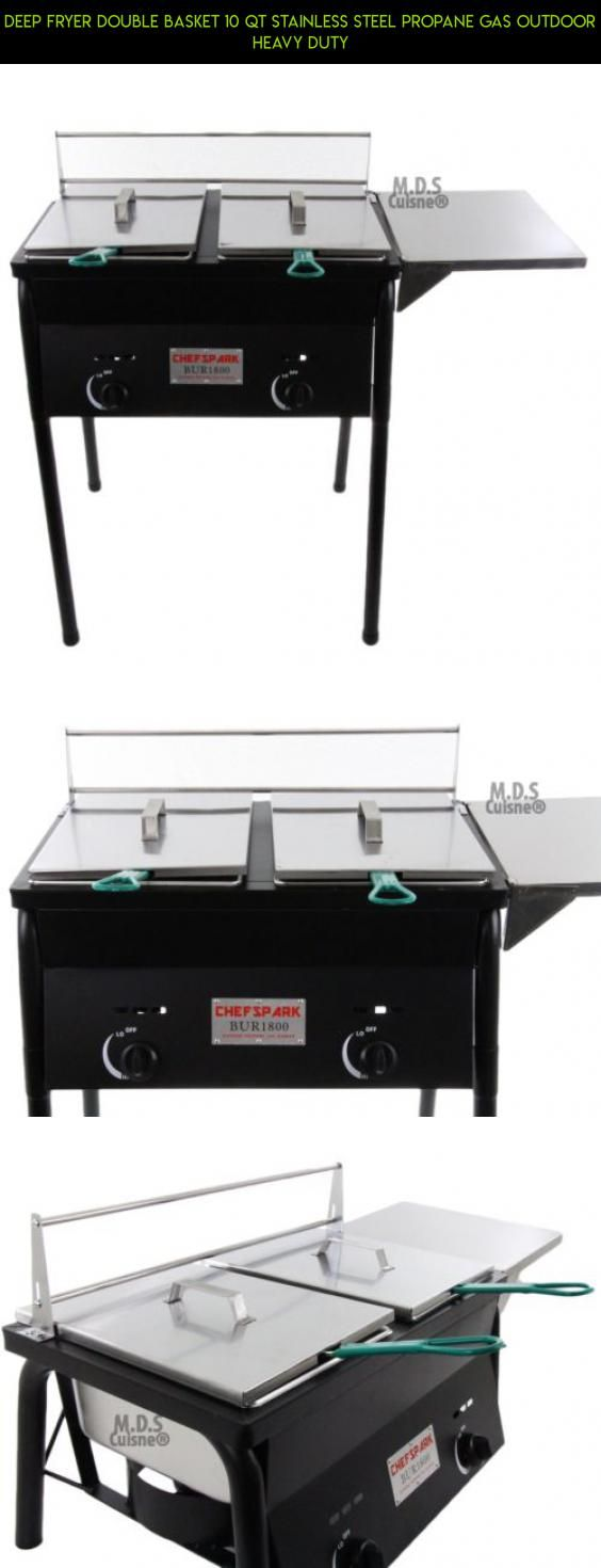 Deep Fryer Double Basket 10 QT Stainless Steel Propane Gas Outdoor Heavy Duty #gadgets #products #racing #camera #fpv #technology #outdoor #drone #shopping #tech #cooking #plans #kit #ware #parts