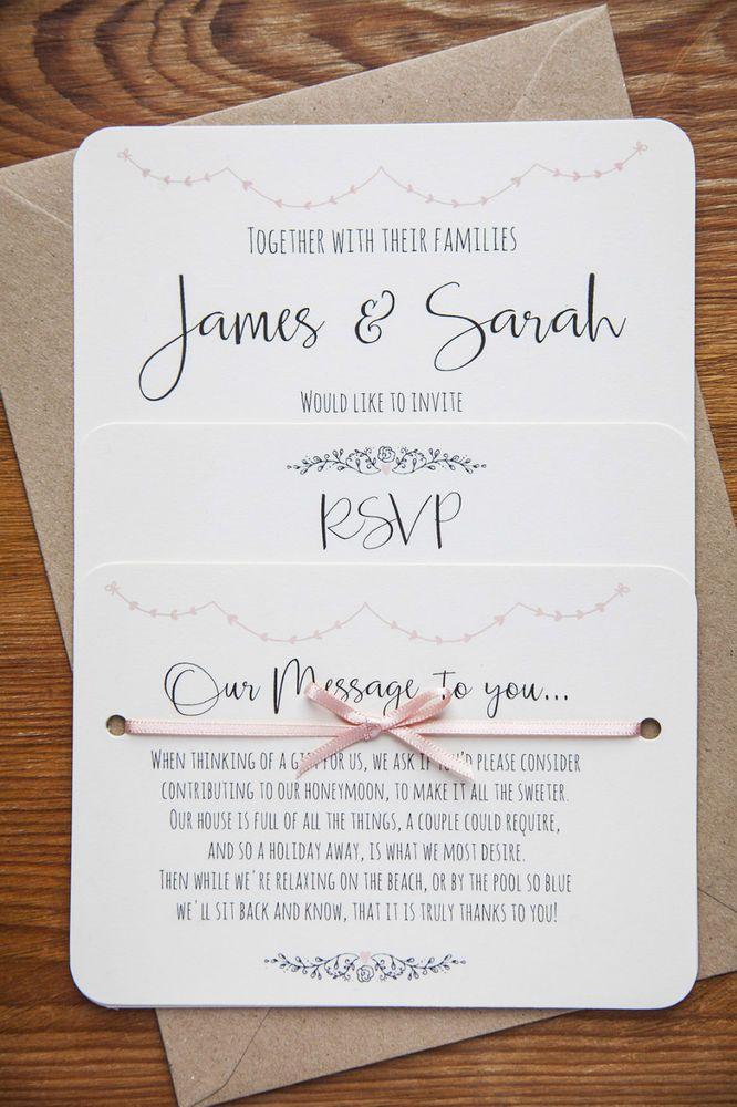 Vintage Shabby Chic Personalised Wedding Invite Day/Evening/RSVP/Menu Ivory Card | Home, Furniture & DIY, Wedding Supplies, Cards & Invitations | eBay!